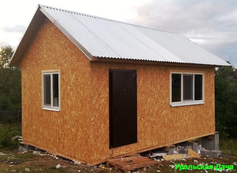Каркасный дом 4х6 своими руками