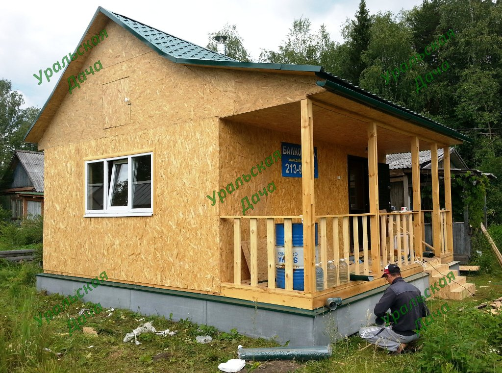 Каркасные дачные домики своими руками фото